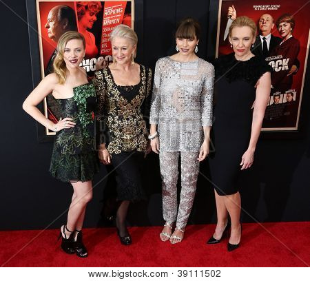 NEW YORK-NOV 18:  Scarlett Johansson, Helen Mirren, Jessica Biel and Toni Collette attend the premiere of