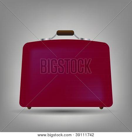 Ilustración de vector de icono de maleta azul