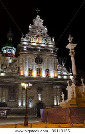Bernardine Church At The Night