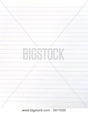 Blank Lined Notebook Sheet