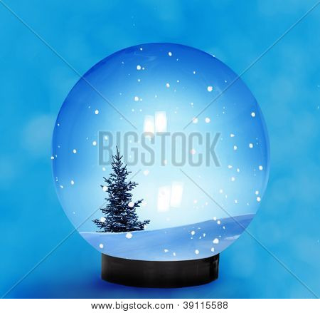Snow Dome With Falling Snow