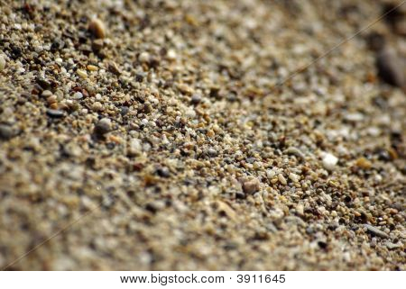 Close-Up Of Sand At The Beach. Mediterranean Sea, Side, Turkey.