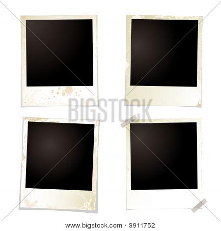 Polaroid Grunge vier Band
