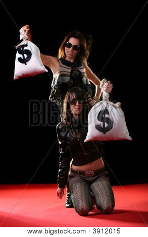 Women With Money Bags