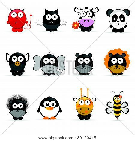 Sweet And Cute Animal Vector Illustration