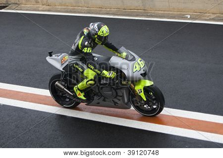 CHESTE - NOVEMBER 13: Michele Pirro during first test of MotoGP for 2013, on November 13, 2012, in Ricardo Tormo Circuit of Cheste, Valencia, Spain
