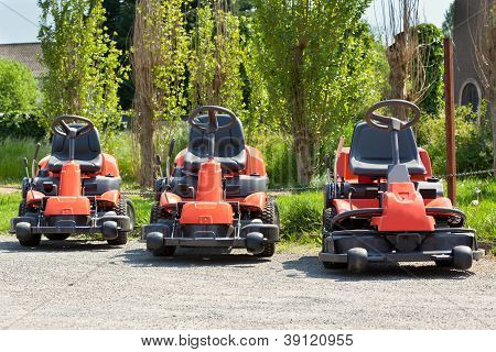 Red Lawnmowers