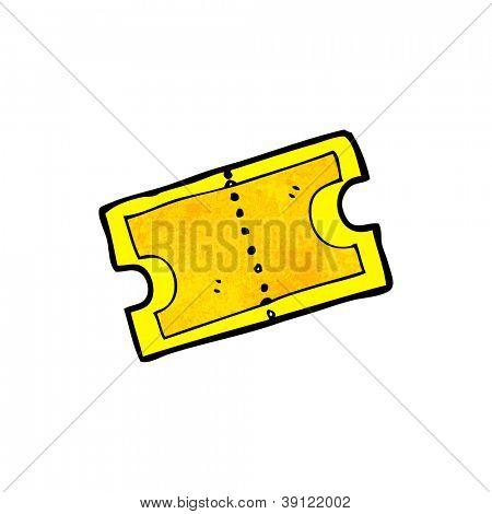gold ticket cartoon