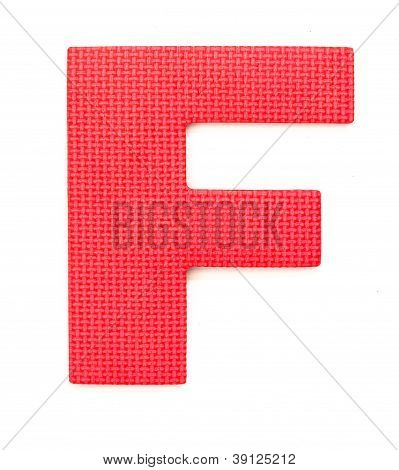 Rubber Alphabet F Isolated
