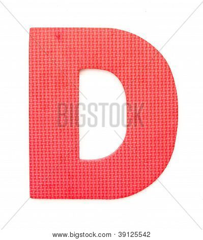 Rubber Alphabet D Isolated
