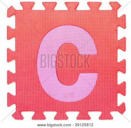 Rubber Alphabet C Isolated