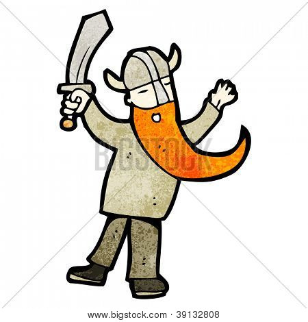 cartoon viking with sword
