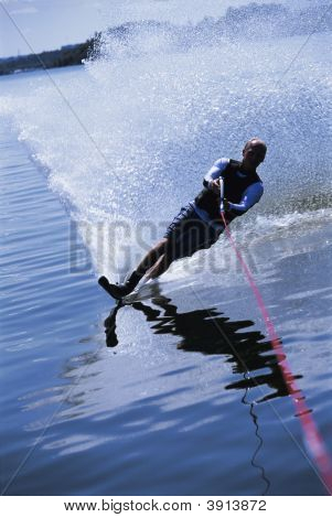 Man Wakeboarding