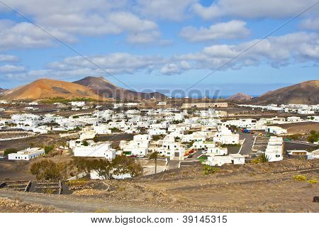 landscape with volcano in Femes, lanzarote