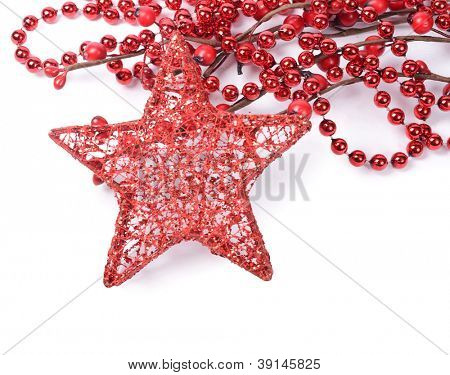 The christmas tree ornaments isolated on white