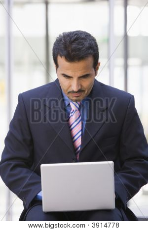 Middle Eastern Business Man On Laptop
