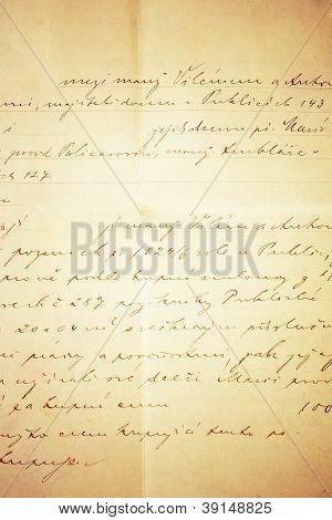Handwritten Text Grunge Background