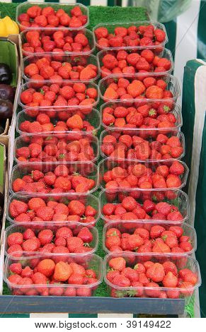 Display of Strawberries.