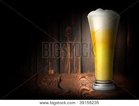 Lager beer on a dark background