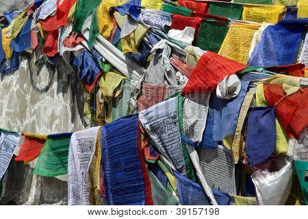 Buddhist Praying Flag From Rothang Pass
