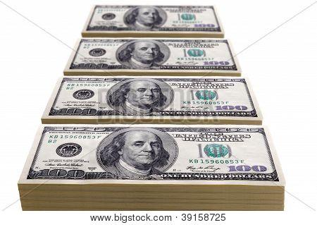 Stapel von hundert-Dollar-Scheine