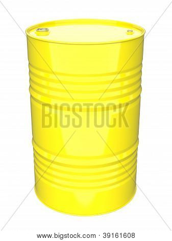 Industrial Barrel. Isolated on White.
