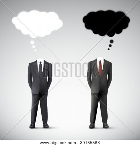 vector businessmen argumenting
