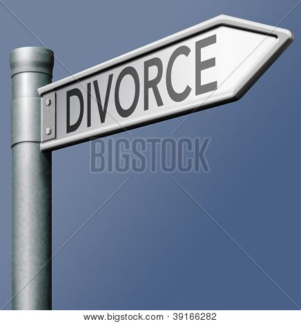 divorce domestic split end broken marriage couple separation start new life