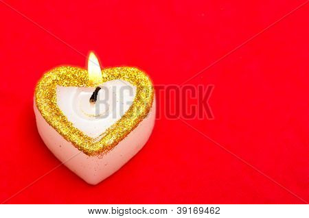 Candle As Heart With Free Space