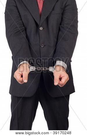 Men with a gun and handcuffs,