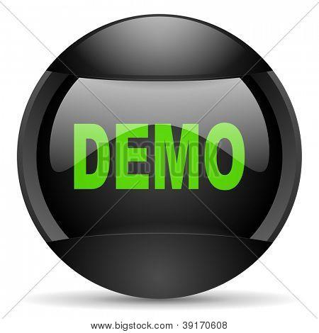 demo round black web icon on white background