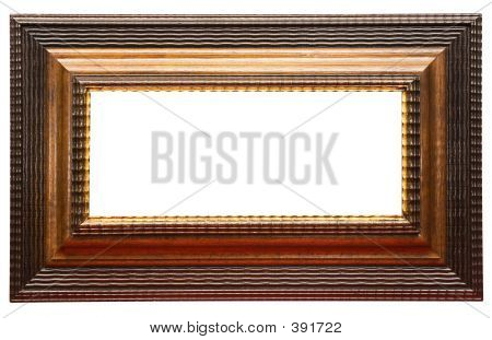 Wide Brown Picture Frame W/ Path