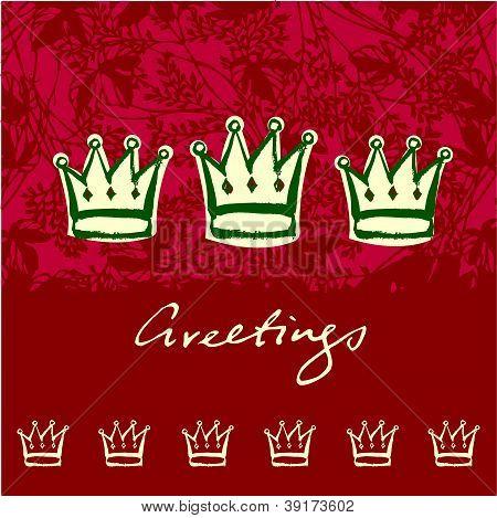Vector cartão de saudação de coroas de Natal