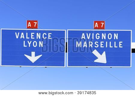 Autoroute Direction