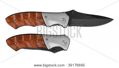 Pocket Knife isolated on white background