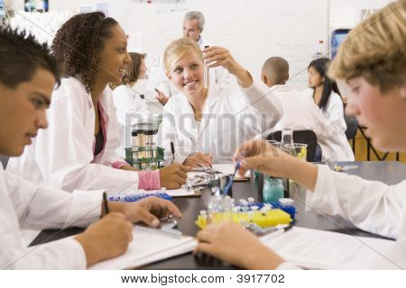 Students In Physics Class