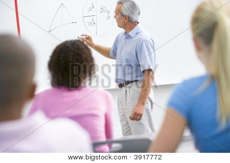 Students In Math Class With Teacher