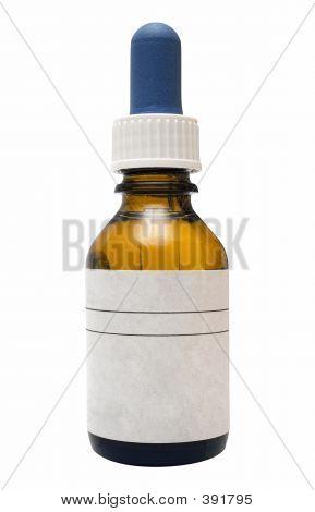 Botella de la medicina con ruta