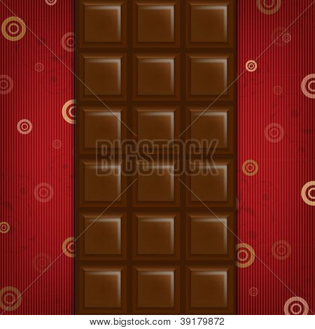 Abstract Background With Chocolate Bar With Gradient Mesh, Vector Illustration