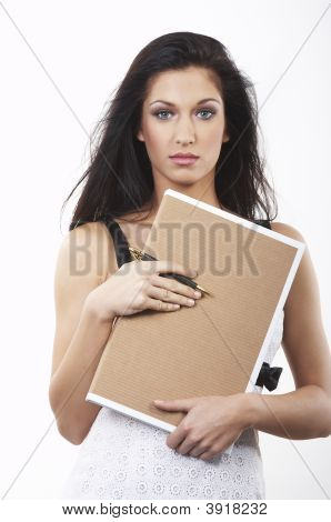 Businesswomen With Clipboard
