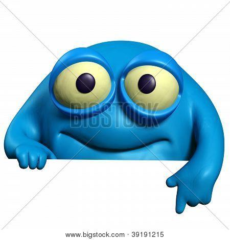 Blue Cute Beast