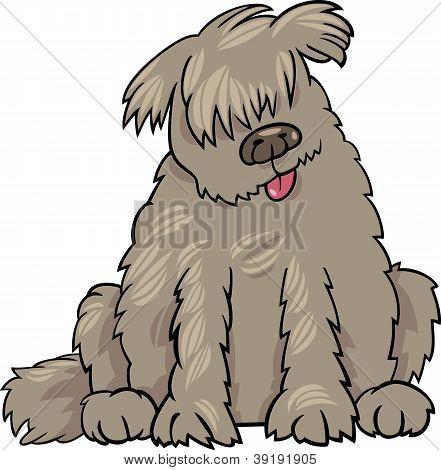 Ilustración de dibujos animados de perro de Newfoundland