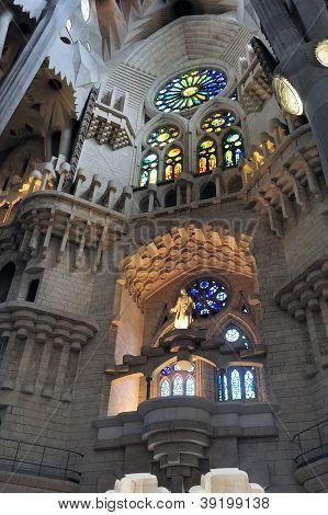 Interior Of Church Sagrada Familia