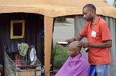 Small African Haircut Barber Business