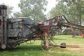 picture of threshing  - This is a threshing machine from a time gone by - JPG