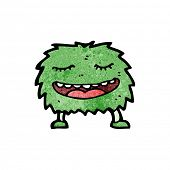 grinning furry creature cartoon poster