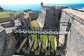 pic of el morro castle  - Castle San Pedro de la Roca del Morro near Santiago de Cuba - JPG