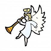 pic of angel-trumpet  - cartoon angel playing trumpet - JPG