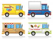 picture of ice-cream truck  - car icon set illustration isolated on white background - JPG
