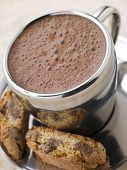 Hot Chocolate Florentine With Chocolate Cantuccini Biscotti poster